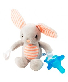 Dr.Brown\'s : DRBAC159 จุกหลอก Bunny Lovey with Blue One-Piece Pacifier