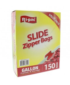 Ri Pac : RIP37315* ถุงซิป Gallon Slide Sipper Freezer Bags - 150 count