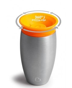 Munchkin : MNK17061 ถ้วยหัดดื่ม 10oz. Miracle 360 Stainless Steel Sippy Cup