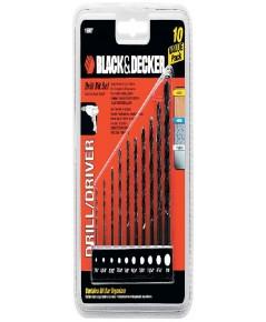 BLACK  DECKER : BDK15557* ดอกสว่าน 10-Piece Drill Bit Set