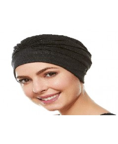Beemo : BMOBLK* หมวกว่ายน้ำ Women's Swim Bathing Cap Turban Black