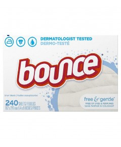 Bounce : BOU0002* แผ่นหอมปรับผ้านุ่ม Fabric Softener and Dryer Sheets 240 Count