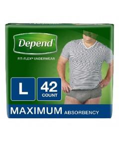Depend : DPNMEN-L* กางเกงชั้นในสำหรับผู้กลั้นปัสสาวะไม่อยู่ FIT-FLEX Incontinence Underwear Men-L