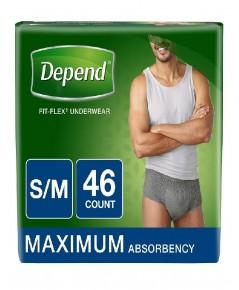 Depend : DPNMEN-S* กางเกงชั้นในสำหรับผู้กลั้นปัสสาวะไม่อยู่ FIT-FLEX Incontinence Underwear Men-S