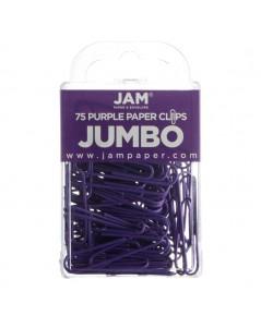 Jam Paper : JPP42186879* คลิปหนีบกระดาษ Colorful Jumbo Paper Clips