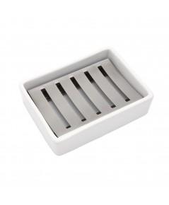 Lofekea : LFK075129* ที่วางสบู่ Ceramic Soap Dish Stainless Steel