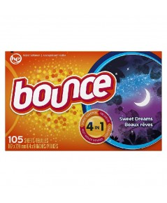 Bounce : BOU0007* แผ่นหอมปรับผ้านุ่ม Sweet Dreams Fabric Softener Dryer Sheets 105 Count