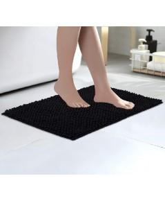 Colorxy : CLXBM-BLK* พรมเช็ดเท้า Luxury Chenille Bathroom Bath Mat Black 16 X 24 inch