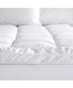 Great Bay Home : GBHAMZ001* เบาะรองที่นอน Twin Mattress Topper Twin, White