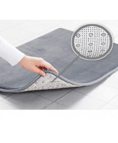 Genteele : GTLBM-GRY* พรมเช็ดเท้า Memory Foam Bath Mat 17\quot; X 24\quot;, Gray