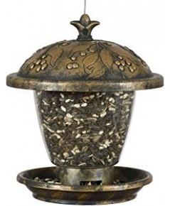 Perky-Pet : PKP305* ที่ใส่อาหารนก Holly Berry Gilded Chalet Wild Bird Feeder