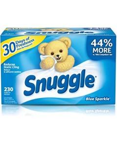 Snuggle : SGLBSP-230* แผ่นหอมปรับผ้านุ่ม Fabric Softener Dryer Sheets Blue Sparkle 230 Count