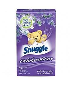 Snuggle : SGLLVO-70* แผ่นหอมปรับผ้านุ่ม Exhilarations Fabric Softener Dryer Sheets Lavender  Vanill