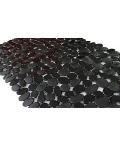 SONGZIMING : SZM50344* เสื่อกันลื่น Non-Slip Pebble Bathtub Mat Black 16 W x 35 L Inches