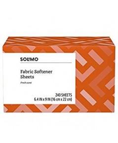 SOLIMO : SLM2398402* แผ่นหอมปรับผ้านุ่ม Fabric Softener Sheets Fresh Scent 240 Count