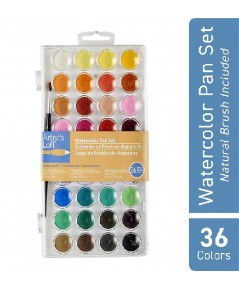 Artists Loft : ATL1234556* ชุดพาเลทสีน้ำ 36 Color Fundamental Watercolor Pan