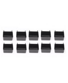 JSP : JSPPB-BLACK-BIN* กล่องอเนกประสงค์ Manufacturing Small Plastic Pegboard Storage Bins 10pk.