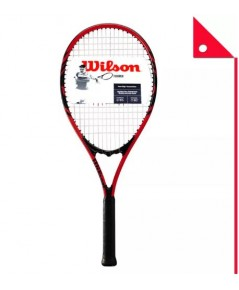 Wilson : WLSWRT30480 ไม้เทนนิส Wilson Federer Adult Tennis Racket Red  Black