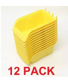 WallPeg : WLPAMZ001* กล่องใส่ของสำหรับเเผ่นเพกบอร์ด WallPeg Pegboard Bin Kit 12pk.