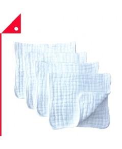 Synrroe : SYR AMZ001* ผ้ารองไหล่ Muslin Burp Cloths 4pk. 20 Inch.