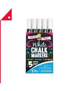 Crafty : CFTCCWCM6* ชอล์กมาร์คเกอร์ Crown Liquid Chalk Marker Pen 5pk.
