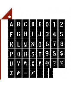 Zonon : ZNN1-153* บล็อคตัวอักษร Letter Number Stencil Symbol Stencil Set, 1-Inch, 153 pcs