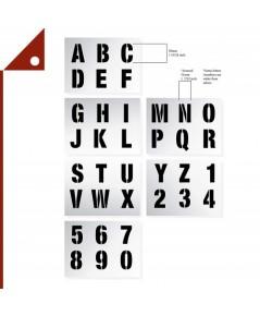 Dovetails : DVT120410* แผ่นฉลุตัวอัษร Vintage Large Number Stencils - 2 inch