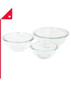 Pyrex : PYR 1118441* ถ้วยตวง Glass Mixing Bowl Set (3-Piece)