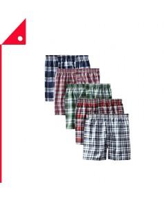 Hanes : HNS838BX5-M* กางเกงบล็อกเซอร์ Men's Tartan Boxer 5pk. Size - M