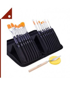 GOTIDEAL : GTDEY-B001739* พู่กัน/แปรงสำหรับเพ้นท์ Artist Paint Brush Set, 15-Pcs