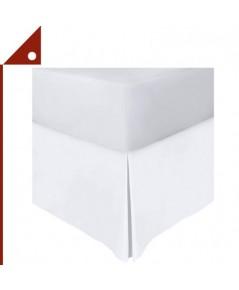Utopia : UTPUB0751* ชายผ้าคลุมเตียง Bedding Bed Skirt King Size, White