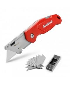 Goldblatt  : GLBG08210A* มีดคัดเตอร์ Folding Utility Knife w 10 Extra Blades