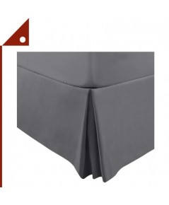 Utopia : UTPUBO239* ชายผ้าคลุมเตียง Bedding Bed Skirt Queen Size, Grey