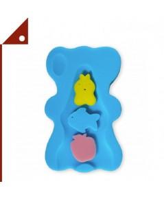 HALLO : HLOBS-BLU* ฟองน้ำรองตัวเด็ก Soft Infant Bath Sponge, Blue