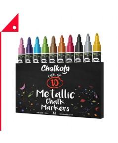 Chalkola : CKLAMZ001* ชอล์กมาร์คเกอร์ Metallic Chalk Markers 10 Color