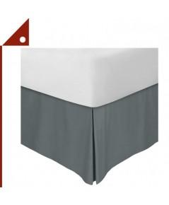 Utopia : UTPUB0235* ผ้าคลุมชายเตียง Bedding Bed Skirt King Size, Grey