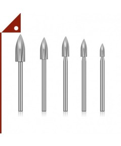Homthia : HMTWOOD-XD01* ดอกสว่านแกะสลักไม้ Wood Carving and Engraving Drill,5-pcs.