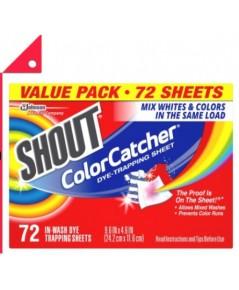 Shout : SHT 676343* แผ่นซักผ้า Color Catcher Sheets for Laundry 72 Count