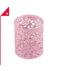 Coolrunner : CRUPNK*  กล่องเหล็กใส่ปากกา Metal Rose Flower Holder Organizer, Pink