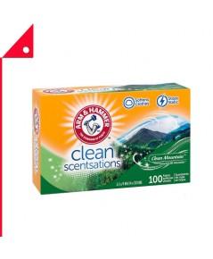Arm & Hammer : ANHCMT-100* แผ่นอบผ้านุ่ม Fabric Softener Sheets Clean Mountain, 100 sheets