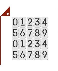 Stencil Stop : SCSAMZ002* บล็อคตัวอักษร Curb Stencil Kit - 20 pcs 4-inch Tall Numbers