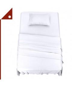 Utopia : UTPUB0280* ชุดผ้าปูที่นอน Bedding Bed Sheet Set - 3 Piece Twin Size, White