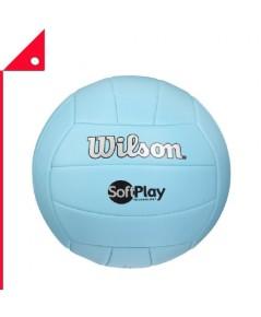Wilson : WLSWTVDRSALL5* ลูกวอลเลย์บอล Soft and Super Soft Play Volleyball, Blue