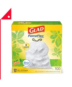 Glad : GLD125727* ถุงขยะ ForceFlex Tall Kitchen Drawstring Trash Bags