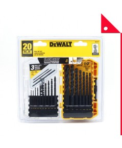 DEWALT : DWT DW1177* ชุดดอกสว่าน Black Oxide Drill Bit Set, 20-Piece