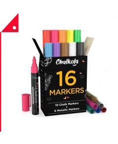 Chalkola : CKLBC32073* ชอล์กมาร์คเกอร์ Liquid Chalk Markers & Metallic Colors