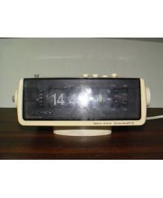วิทยุSONY-นาฬิกาปฏิทินพลิก Vintage AM/FM