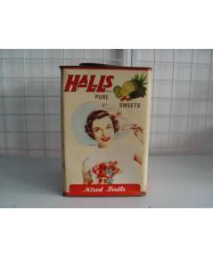 กระป๋องฮอลล์ Halls รุ่นผลไม้รวม สภาพดี หายากที่สุด