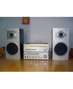 ชุดเครื่องเสียงโบราณ HITACHI Tuner+Amplifier+ลำโพง ใช้งานได้ปกติทุกฟังชั่น เสียงดี เบสนุ่มนวล