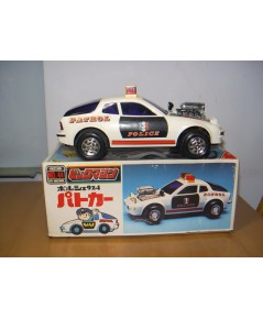 Vintage รถตำรวจ งานญี่ปุ่นแท้ ระบบลาน สภาพสวยมากมีกล่องใส่